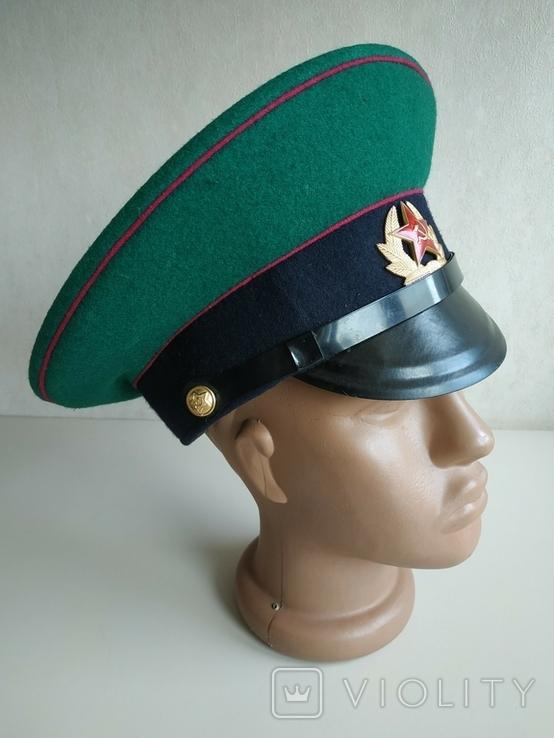 Фуражка пограничника ПВ КГБ СССР малиновый кант 1977 г, фото №7