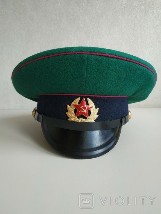 Фуражка пограничника ПВ КГБ СССР малиновый кант 1977 г, фото №9