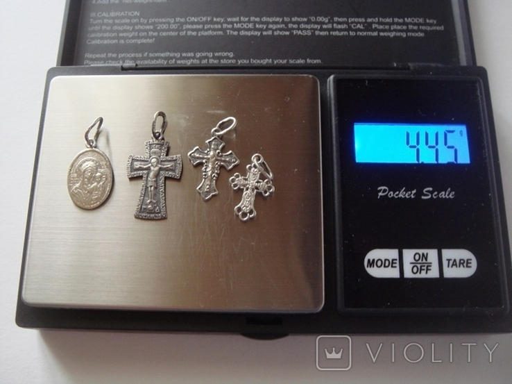 """Набор """"Святые Лики"""" серебро 4.45 гр., фото №13"""