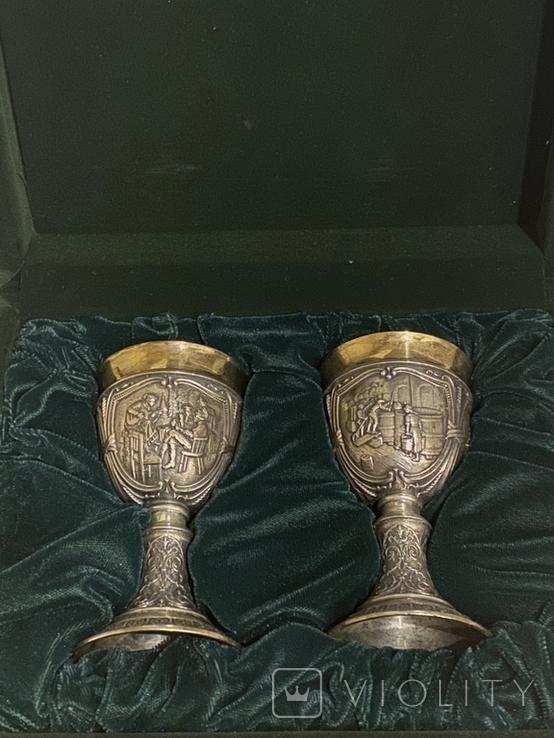 Пара бокалов, серебро 925, вес 538 грамм., фото №3