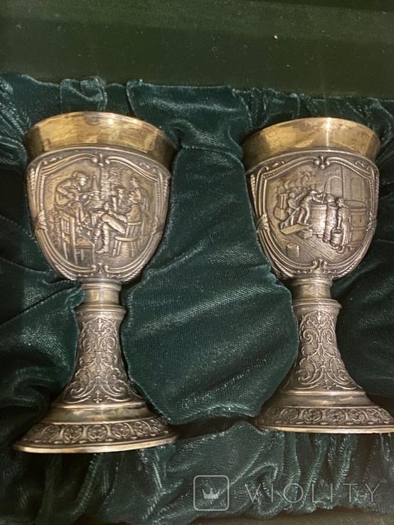 Пара бокалов, серебро 925, вес 538 грамм., фото №4