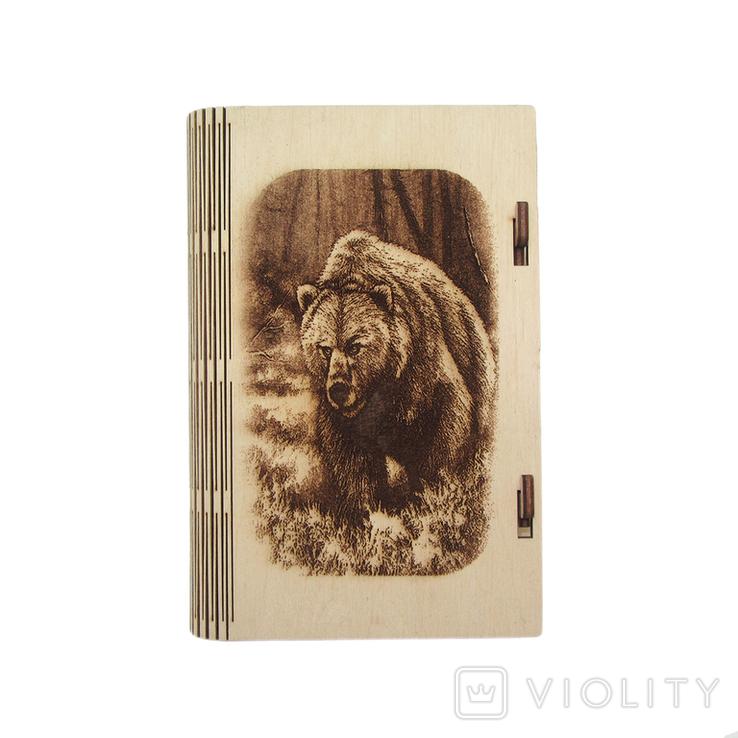 Шкатулка - Медведь . (175*115*25мм), фото №2