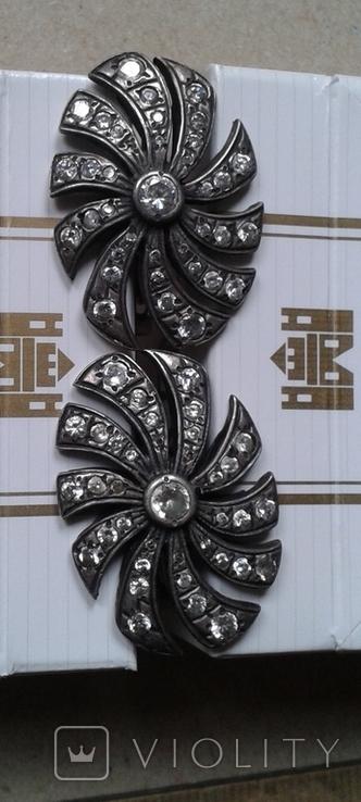 Серьги серебро 11,5 грамм, фото №3