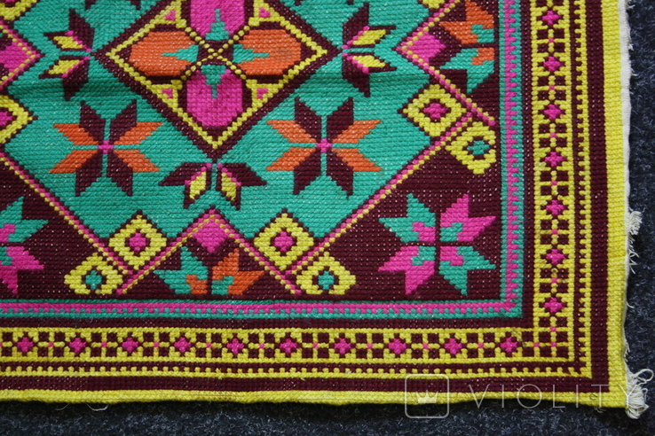Вышивка для подушки, фото №6