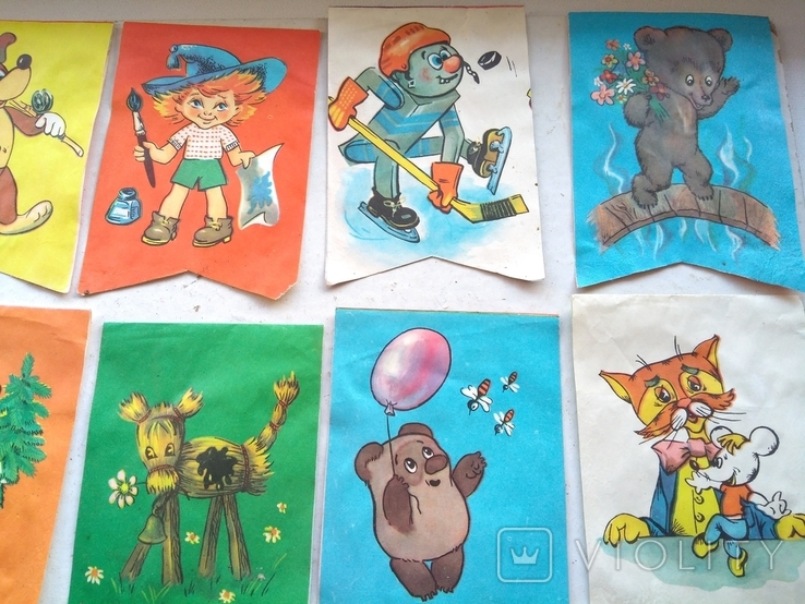 Набор новогодних флажков 20 шт., фото №6