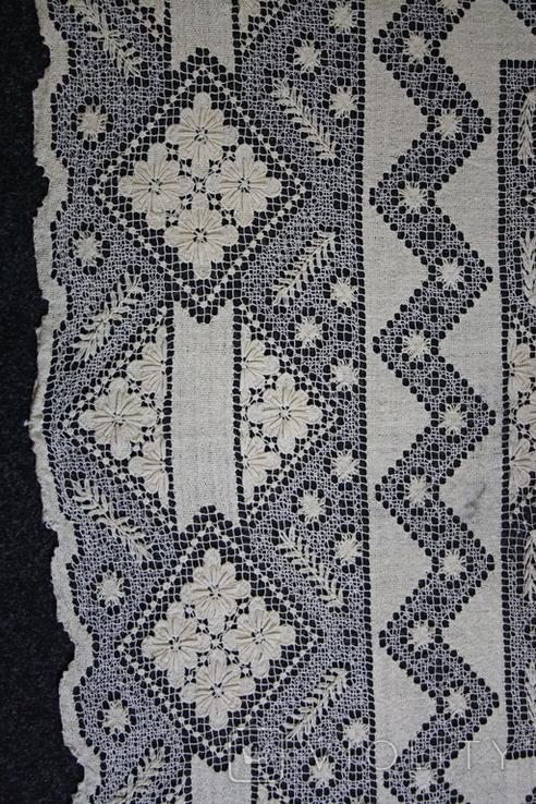 Старинная скатерть ручной работы 150х110, фото №3