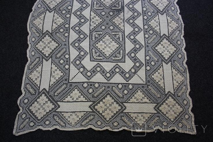 Старинная скатерть ручной работы 150х110, фото №4