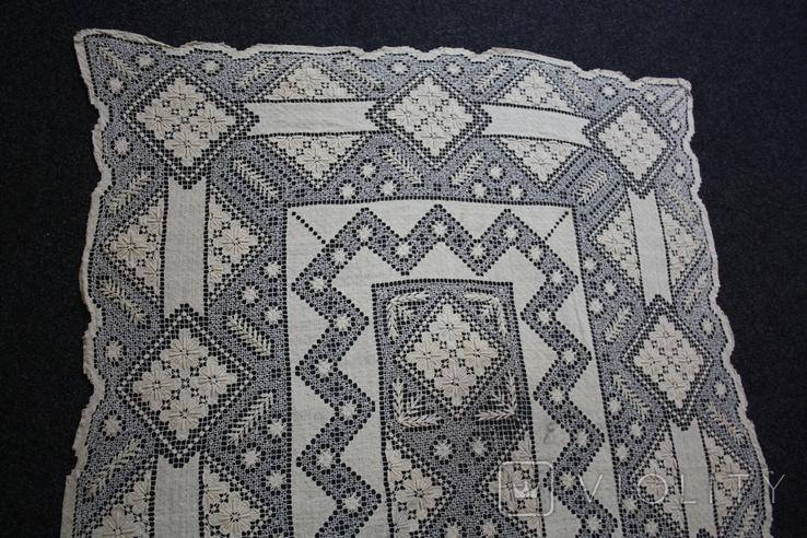 Старинная скатерть ручной работы 150х110, фото №5