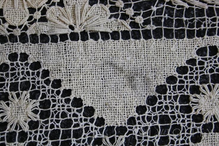 Старинная скатерть ручной работы 150х110, фото №12