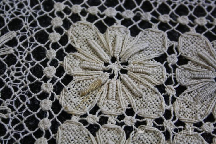 Старинная скатерть ручной работы 150х110, фото №13