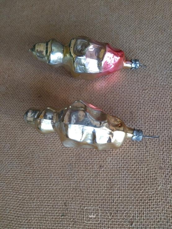 Пара ёлочных игрушек СССР, фото №12