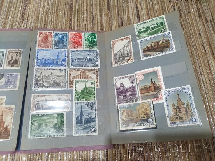 СССР коллекция марок 43 штуки в альбоме с 1941 до 1949 года, фото №4