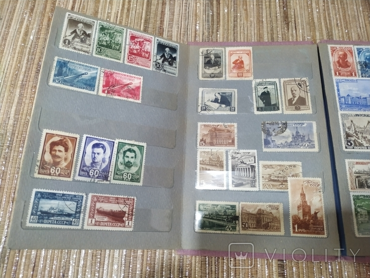 СССР коллекция марок 43 штуки в альбоме с 1941 до 1949 года, фото №6