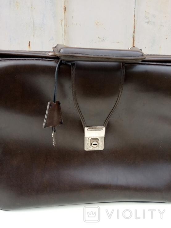 Кожаный портфель, фото №5