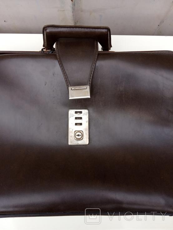 Кожаный портфель, фото №7
