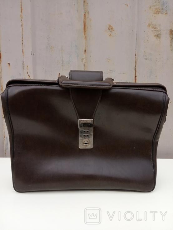 Кожаный портфель, фото №8