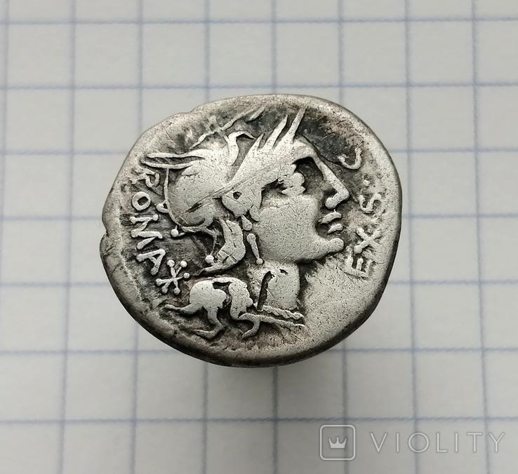 Marcus Sergius Silus - республіканський денарій 116-115 AC