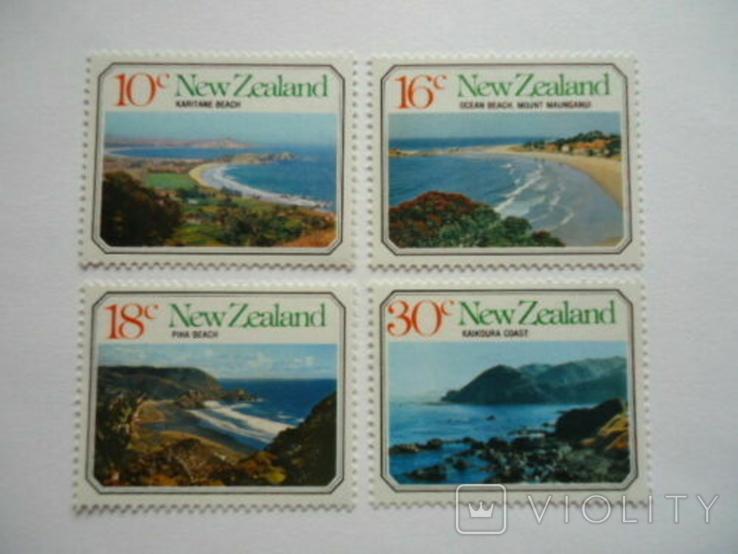 Новая Зеландия 1977 морские ландшафты