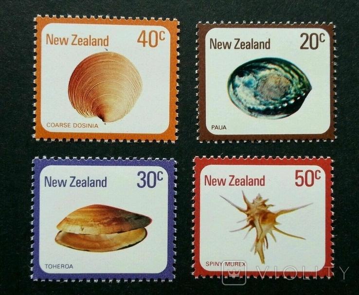 Новая Зеландия 1978 обитатели моря