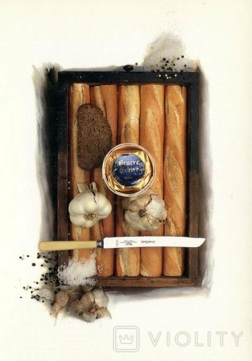 Открытки еда книги хлеб улитки икра чеснок, фото №3
