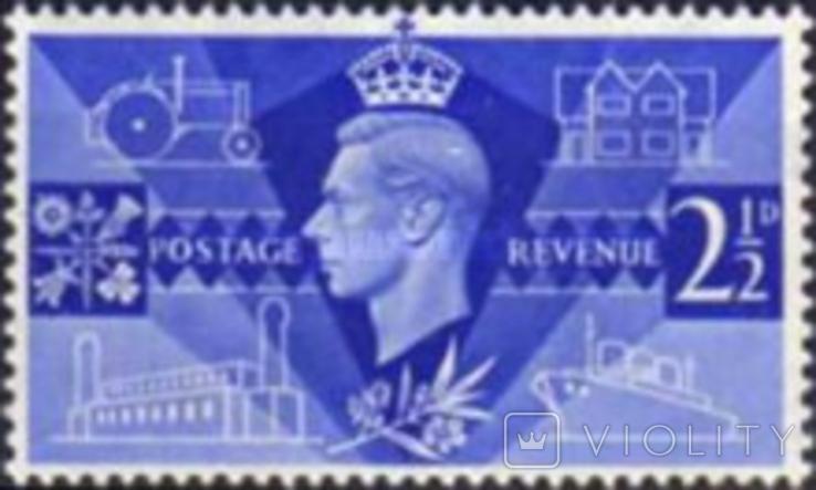 Великобритания 1946 король Георг 6, фото №2
