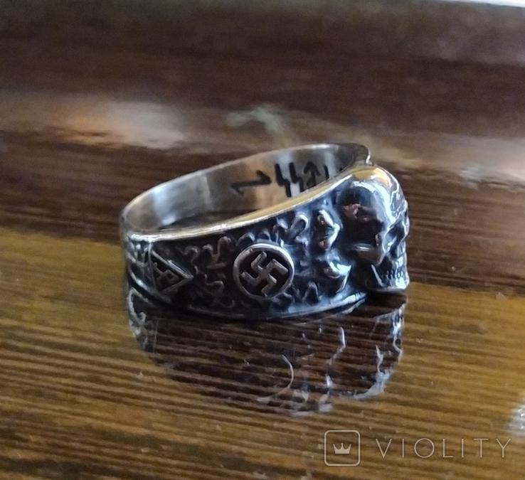 Кольцо с символикой СС копия в серебре 925., фото №5