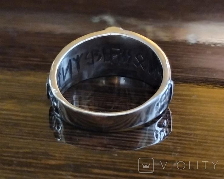Кольцо с символикой СС копия в серебре 925., фото №6