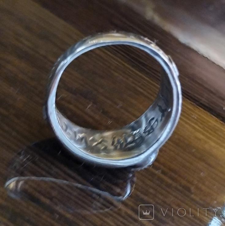 Кольцо с символикой СС копия в серебре 925., фото №7