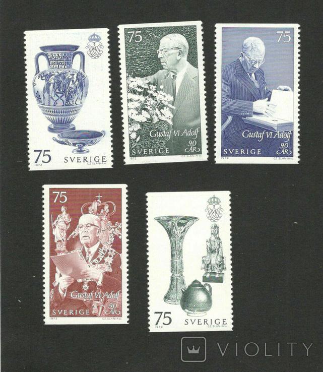 Швеция 1972 король Густав