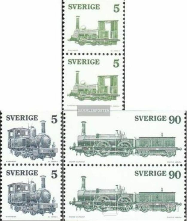 Швеция 1975 шведские локомотивы (пары)