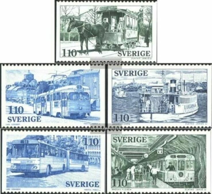 Швеция 1977 публичный транспорт