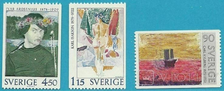 Швеция 1978 шведская живопись