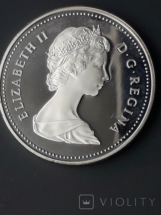 1 доллар, Канада, 1982 год, 100 лет городу Реджайна, серебро, 0.500, 23.32 гр., фото №4
