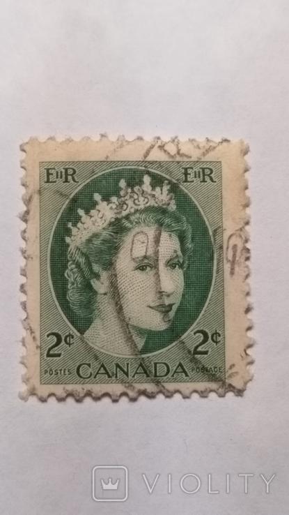 Марка Канады 2 цента, фото №2