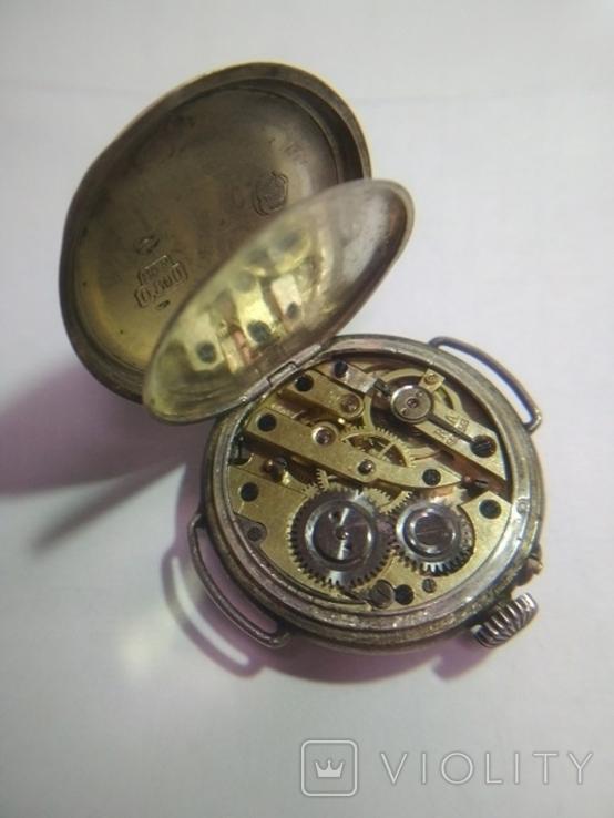 Часы серебряные швейцарские , старинные Cylindre., фото №5