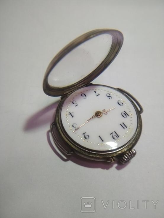 Часы серебряные швейцарские , старинные Cylindre., фото №7