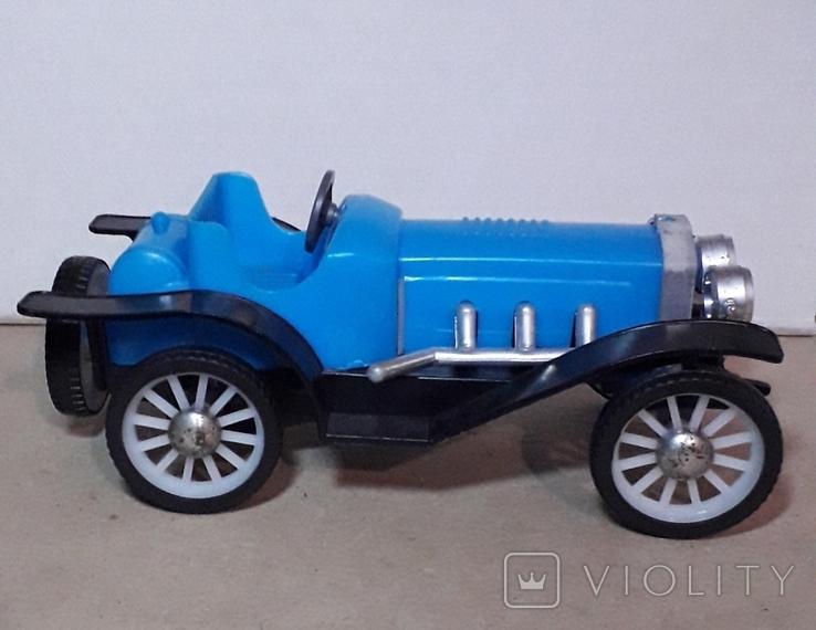Ретро машинка из СССР игрушка КРУГОЗОР кабриолет, фото №2
