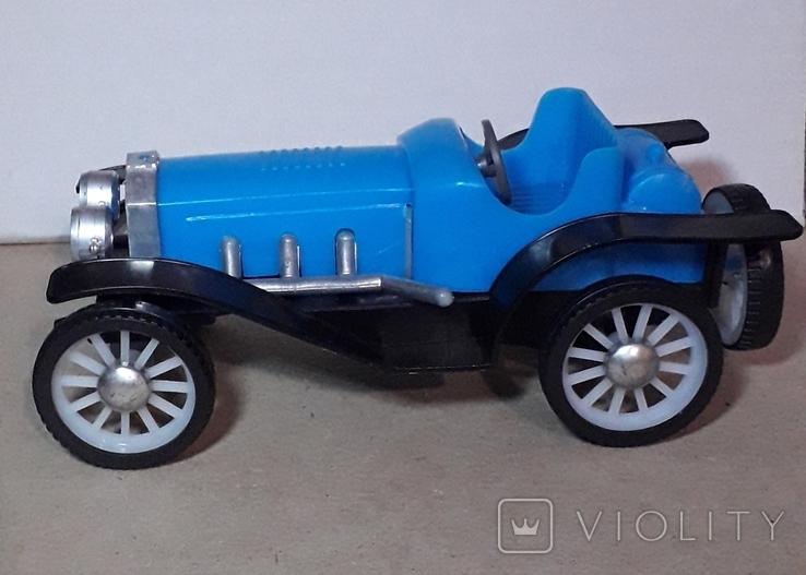 Ретро машинка из СССР игрушка КРУГОЗОР кабриолет, фото №8