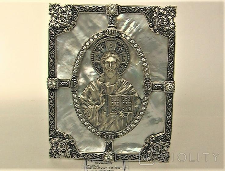 Икона серебро 925 проба 113,50 грамма, фото №2