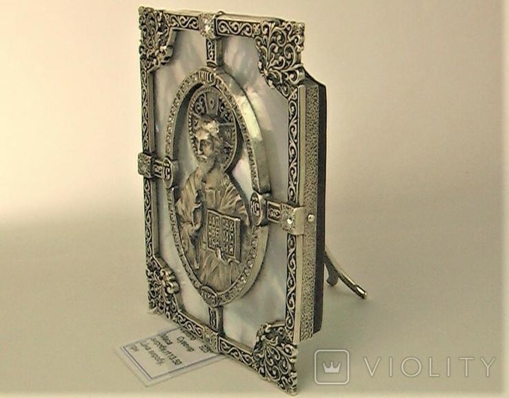 Икона серебро 925 проба 113,50 грамма, фото №3
