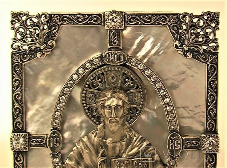 Икона серебро 925 проба 113,50 грамма, фото №4