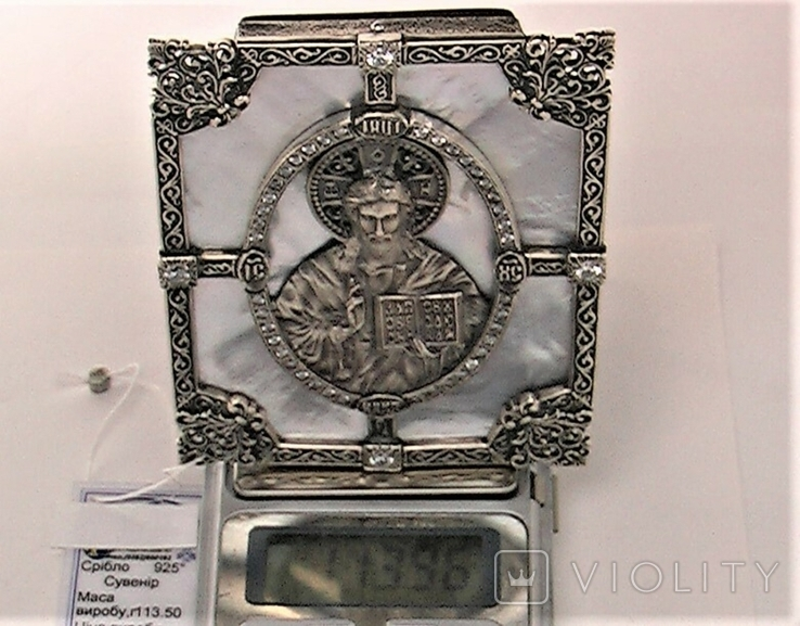Икона серебро 925 проба 113,50 грамма, фото №8