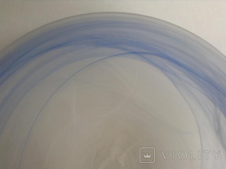 Плафон Голубой ободок. Стекло., фото №4