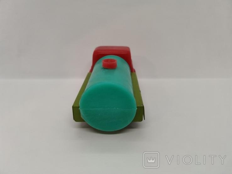 Машинка бензовоз СССР ОТК металл пластмасса 14 см. грузовая машина  № 2, фото №4