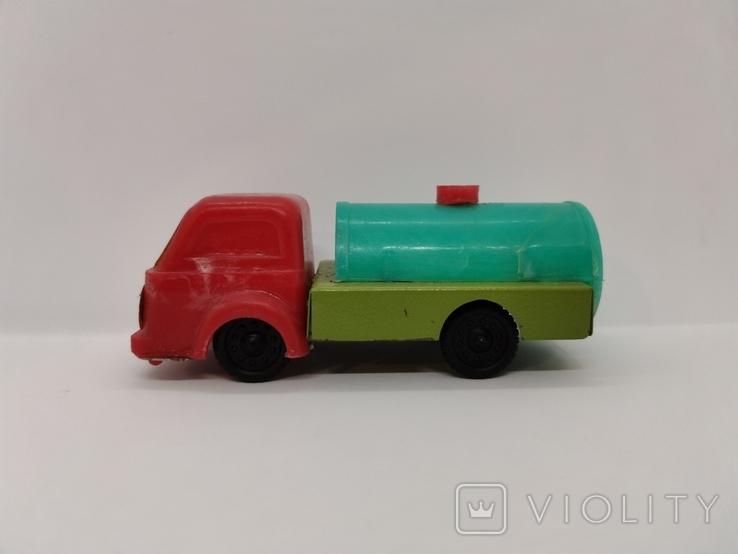 Машинка бензовоз СССР ОТК металл пластмасса 14 см. грузовая машина  № 2, фото №5