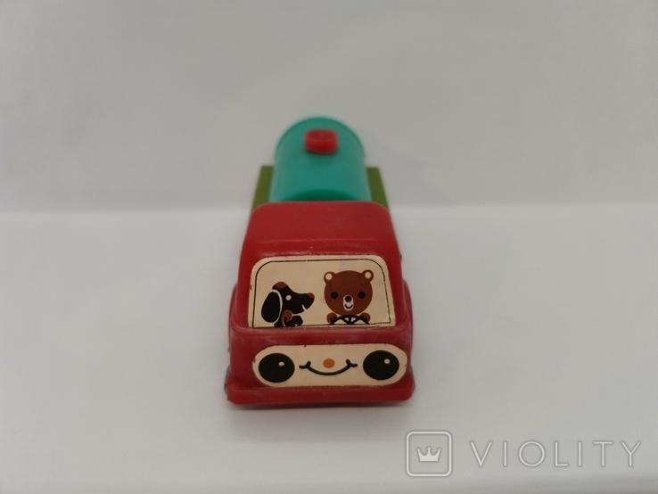 Машинка бензовоз СССР ОТК металл пластмасса 14 см. грузовая машина  № 2, фото №6