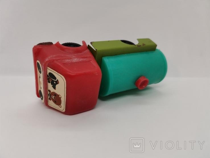 Машинка бензовоз СССР ОТК металл пластмасса 14 см. грузовая машина  № 2, фото №7