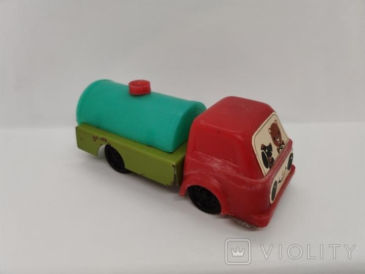 Машинка бензовоз СССР ОТК металл пластмасса 14 см. грузовая машина  № 2, фото №11