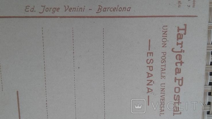 Почтовая открытка Испания до 1939 Ed.Jorge Venini-Barcelona, фото №7