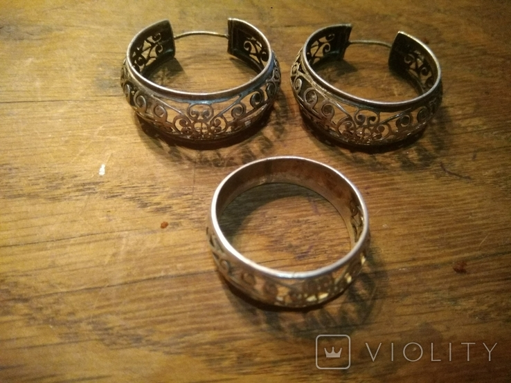 Кольцо, серьги., фото №5